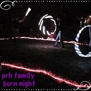 Brad at family burn night